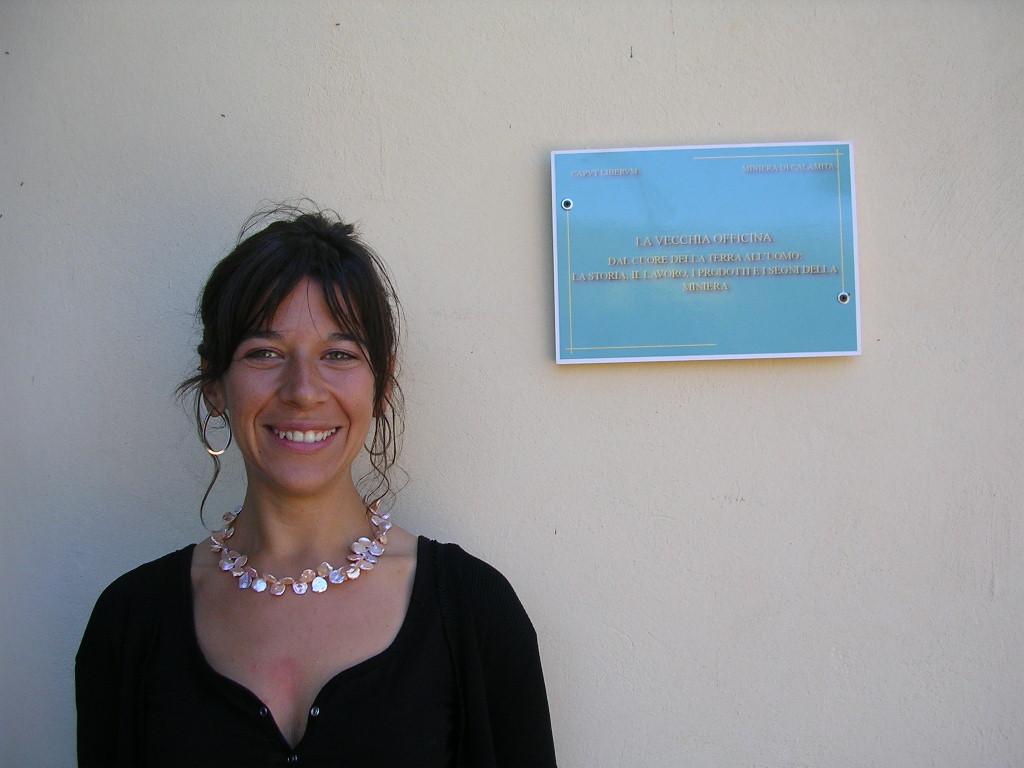 Alessandra Aprile guida alle miniere di Capoliveri