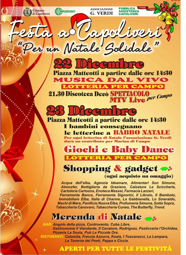 Vacanze di Natale a Capoliveri isola d'Elba