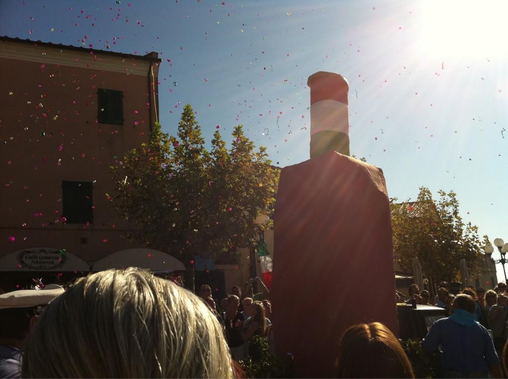 Festa dell'uva a Capoliveri. Piazza Matteotti in festa