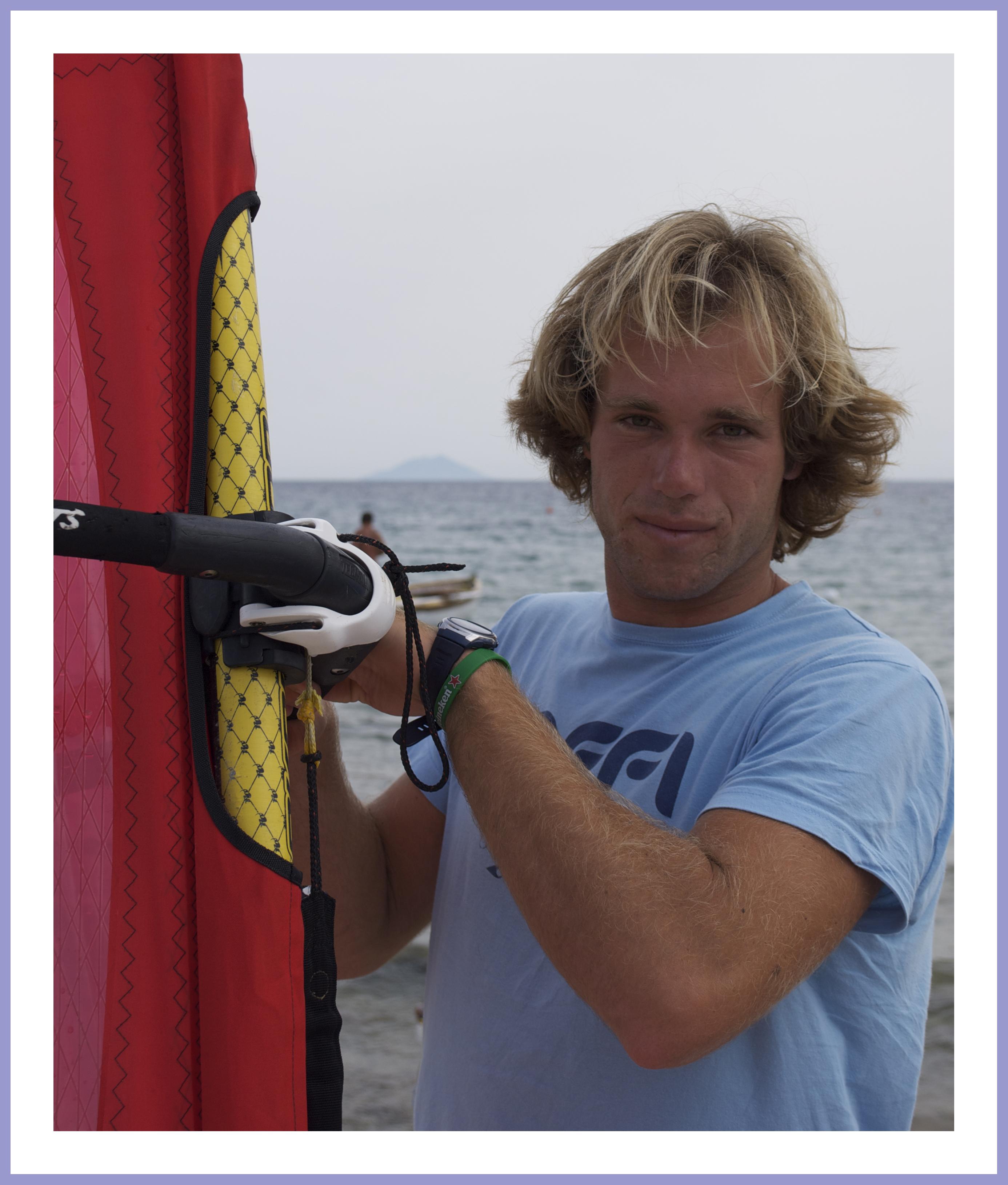 Malte Reuscher - Campione Italiano Formula Windsurf (foto C. Colnago)