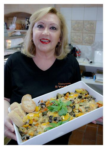 Giulia Marasti e il suo piatto preferito (foto di C.Colnago)