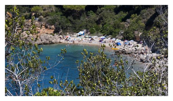 Vista della spiaggia di Zuccale