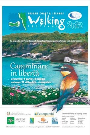 Locandina Festival del Camminare 2012 ( via www.tuscanywalkingfestival.it)