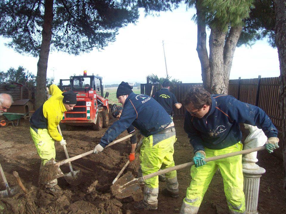 Tra gli alluvionati in Maremma (Foto NOVAC)