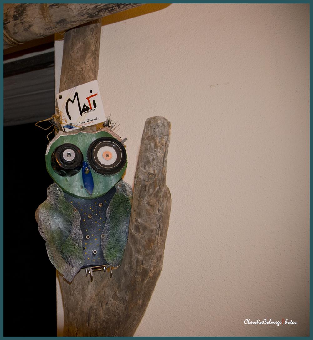 Gufo in materiale riciclato (Foto C.Colnago)