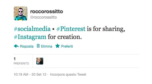 La differenza tra Pinterest e Instagram (Foto via roccorossitto.it)