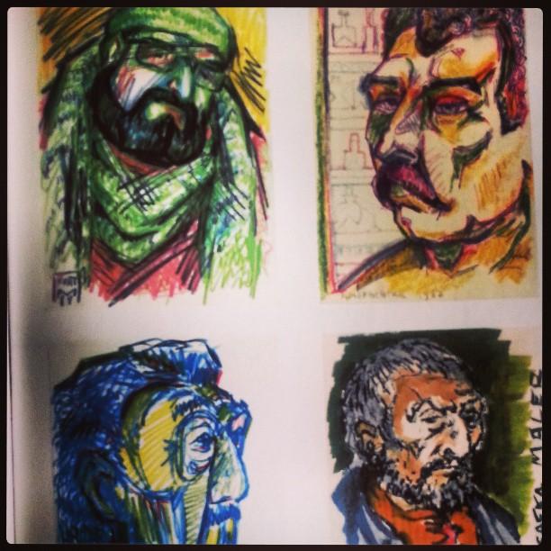 Paolo Aprile, Franco Sardi, Rodriguez, Saffa visti da Kurt Mergental - Immagini tratte da Capoliveri e le sue miniere