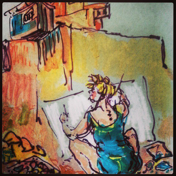 Helga ritratta la lavoro dal marito Kurt