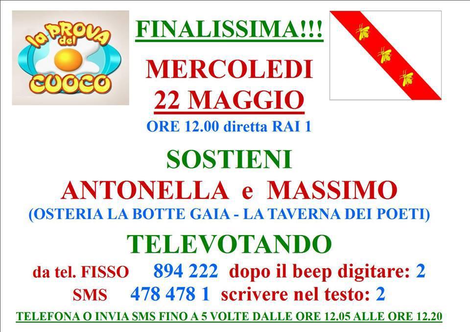 Televoto per sostenere Antonella e Massimo