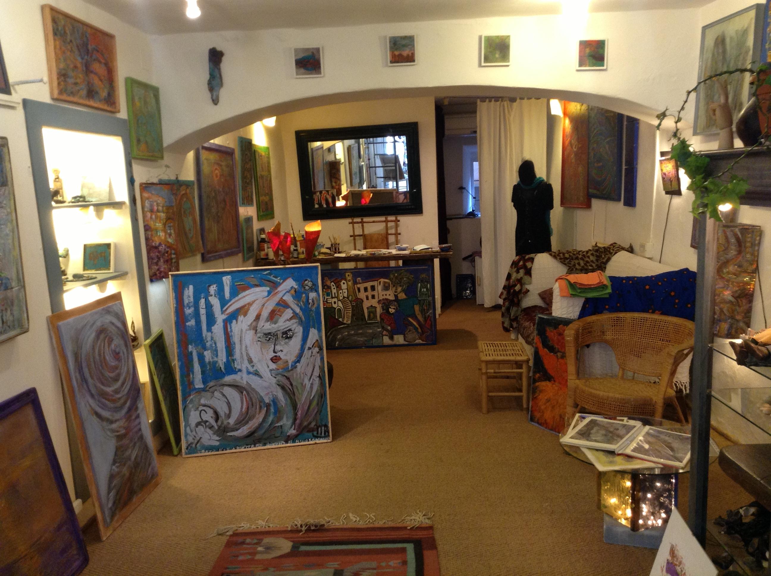 La galleria d'arte (Foto Claudia Lanzoni)