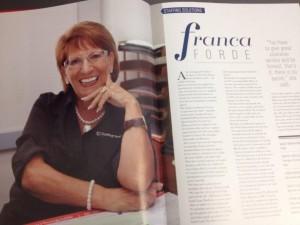 """Franca Ford nell'articolo pubblicato dalla rivista """"Business Women"""""""